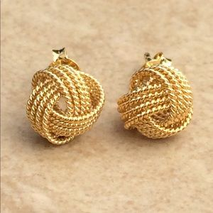 Jewelry - Gold Plated Sterling Silver 925 Rope Love Knot